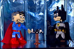 Versus (Frost Bricks) Tags: lego batman vs superman chess battle moc