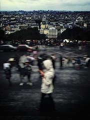 """""""Montmartre Madness"""" (helmet13) Tags: people paris france cityscape montmartre tourists motionblur darkclouds aoi peaceaward heartaward iphone6s"""
