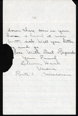 1913_May_Invite_Westphal_to_surprise_Herman_Goth_2 (Max Kade Institute for German-American Studies) Tags: westphal family familie genealogy middleton handwriting script cursive letter brief henrywestphal heinrichwestphal hermangoth lillianhaak haak goth