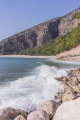 Seashore (aleksey_kondratiev) Tags: turkey fethiye oludeniz mediterranean sea water blue wave waves seashore rocks sky mountain