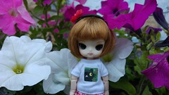 I like flowers (-nickless-) Tags: outdoors doll little dal muñeca rotchan minidal gozoki obitsu11cm