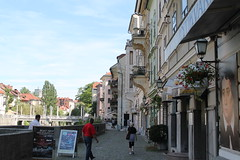 Walking near the river Ljubljanica (robin_mush) Tags: ljubljanica river walk slovenia ljubljana capital