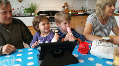 togetherness (domit) Tags: isaac emma family home laeken brussels belgium ice cream opa oma