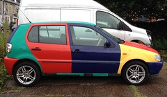 Polo Harlequin (morebyless) Tags: classic harlequin hatchback multicoloured polo rare vw