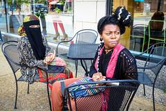 Best Friends (Ben at St. Louis Energized) Tags: stl stlouis delmarloop universitycity people friends bestfriends women hijab muslim sidewalk colors city urban