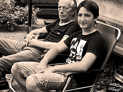 family-gandfather (Dario Baruzzi) Tags: family person people grandfather grey