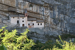 Eremo di San Colombano (fatboyke (Luc)) Tags: eremodisancolombano monastery trambileno hermitageofsaintcolumban italy carved rock rovereto gorge river leno alp alps architecture bolzano building chapel church cliff colombano hermit hermitage holy inrock landmark landscape monk mountains precipice province recluse religion retreat sacred temple thealps tourism