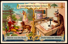 Liebig Tradecard S422 - Proverbs, 1894 (cigcardpix) Tags: tradecards advertising ephemera vintage chromo liebig