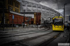 ManchesterVictoria2016.10.09-3 (Robert Mann MA Photography) Tags: manchester manchestervictoria manchestercitycentre greatermanchester england victoria victoriastation manchestervictoriastation manchestervictoriarailstation victoriarailstation city cities citycentre architecture summer 2016 sunday 9thoctober2016 manchestermetrolink metrolink trams tram nightscape nightscapes night light lighttrails