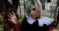 Do you wanna play? (ludovicadegiorgi) Tags: goth horror gothic lolita daddy mistress creepy green pink strange weirdo girl lesbian woman portrait hands