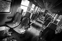 Deragliati (serdor) Tags: abbandono urbex treno bianconero fujifilm xf14 xpro1