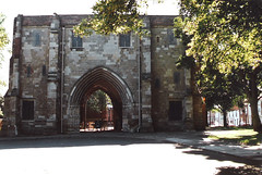 Bridlington.  July 11th. 1999 (Cynthia of Harborough) Tags: 1999 architecture arches entrances gateways trees