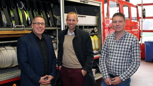 Austausch beim Kreisverpflegungszug der Feuerwehr Ammerland in Apen.
