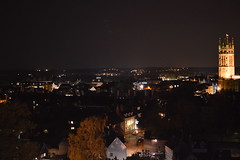 View over Warwick in the Night Time (CoasterMadMatt) Tags: pictures greatbritain autumn england tower castle english heritage history fall castles halloween church up saint st night season religious photography lights nikon october view time photos unitedkingdom britain united religion great towers central illumination kingdom guys courtyard illuminated haunted event photographs views ramparts marys gb british lit viewpoint warwick atnight turret stmaryschurch turrets warwickshire warwickcastle rampart 2014 litup specialevent hauntedcastle nikond3200 allhallowseve nighttimephotography guystower d3200 saintmaryschurch centralcourtyard thehauntedcastle coastermadmatt october2014 coastermadmattphotography warwickcastleatnight