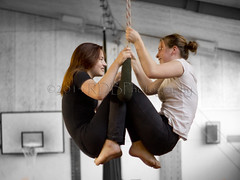 Trapeze Artists 20 (ArdieBeaPhotography) Tags: girls women artist rehearsal circus young seesaw hanging swinging performers trapeze