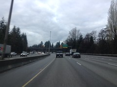 Almost to the Boulevard Rd. Overpass on I-5 South in Olympia, WA 11-26-14. (vannmarcus932) Tags: i5 olympia wa