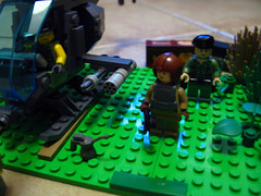 Viet Nam : small camp and AH6 (Franckfbe) Tags: us war lego vietnam collection viet nam soldat amricain guerriers ah6