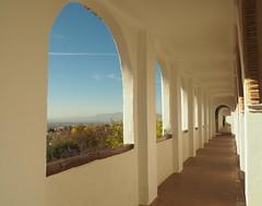 Generalife (Mariasme) Tags: spain view walkway alhambra granada repetition gamewinner singlefigure friendlychallenges gamex2