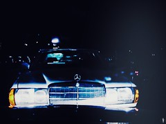 349|365 In the Spotlight (flickranet) Tags: light car mobile night dark handy star mercedes ancient phone nightshot spotlight mobilephone 365 iphone 2014 365project photomy iphone6 flickranet photomyde