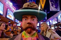 One Evening at Johnny's Sports Bar (ricko) Tags: ladies people face statue kansas shawnee customers teevees mdpd2014 mdpd1412 johhnyssportsbar