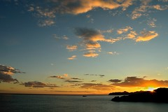 (F_J Storage) Tags: blue sunset sea sky orange sun mountain mountains skyline clouds spain cartagena