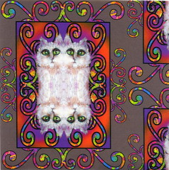CAT DAMASK TAUPE (paysmage) Tags: red wallpaper brown cute art fashion animal cat painting children design twins eyes feline colorful pretty pattern sewing crafts painted multicoloured collection fabric cotton quilting assortment coordinates multicolor assorted fabrics designers taupe arabesque upholstery damask stiching spoonflower