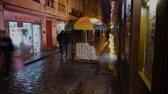 (//DannyBoy//) Tags: street paris rain night umbrella pluie rue marais nuit parapluie tsingtao