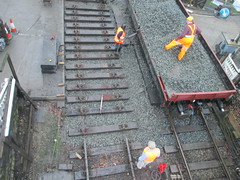 Sleepers reinstated and ready for top ballast 22Nov14