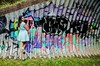 Stylish Wall (Dance while the record spins....) Tags: urban green beauty fashion graffiti legs turquoise style suit heels trend skirtsuit indianfashion asianfashion