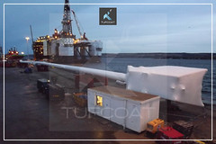 Tufcoat encapsulate 120 metre long caisson for Isleburn4