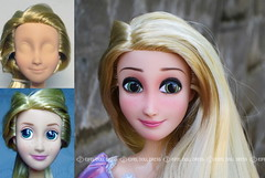 """Repaint Disney's Rapunzel 16"""" doll by Eifel"""