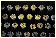 The keys (Across & Down) Tags: typewriter vintage keys letters alphabet