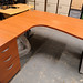 Desk with fixed pedestal