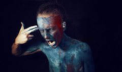 """The Pain I am Used To"" (Kavan The Kid) Tags: portrait art strange beauty self magazine dark photography kid fine eerie eccentric kavan 365project enstine"