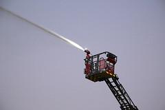 203 Metz Ladder Demonstration with Seaford 469 (adelaidefire) Tags: night fire community south country group australian equipment service sa metz scania mawson cfs metroplitan rosenbauer samfs sasgar
