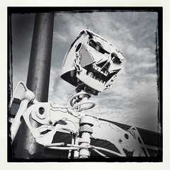 Salvage skeleton 1 (plasticfootball) Tags: skeleton tennessee dickson peekinside folkartsculpture