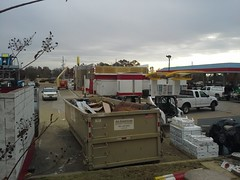 Rear view, with glimpse of the building's east side (l_dawg2000) Tags: old retail vintage mississippi restaurant clown fastfood mcdonalds hamburgers eyebrow ms remodel bigmac 90s goldenarches expansion hernando filetofish mcds 2014remodel