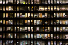"""Making all their nowhere plans for nobody ... ""   (Canadapt) Tags: windows toronto ontario building night facade empty beatles offices nowhereman canadapt"