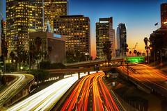 110 Freeway, Los Angeles (szeke) Tags: california street city urban usa buildings us losangeles cityscape nightlights unitedstates citylights 2014 zeiss2470mmf4 sonya7s