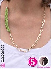 Glimpse of Malibu Green Necklace K1 P2810-1