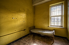 Yellow Room (Frank C. Grace (Trig Photography)) Tags: history abandoned window hospital insane bed unitedstates decay masonry plan historic haunted westvirginia ghosts insanity exploration paranormal lunatic asylum weston treatment urbex patients mentalillness kirkbride overcrowded richardandrews transallegheny handcutstone trigphotography frankcgrace