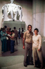 Erle & Mildred in Washington D.C June 1977  Lincoln Memorial (Ref54) Tags: washingtondc scanned mildrederlewashintondc