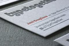 New cards! (TypeTogether) Tags: canarias businesscards letterpress stationary veronikaburian typetogether josscaglione wwwtypetogethercom tiposensutinta matthiasbeck larspetteramundsen