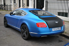 Bentley Continental GT (CA Photography2012) Tags: ca blue black london car speed matt photography continental grand s automotive knightsbridge arabic exotic arab british kensington gt mayfair luxury coupe supercar v8 bentley spotting w12 tourer belgravia t6240bbd