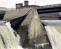 Both Dams (Patrick J. McCormack) Tags: winter mamiya film analog river vermont december dam grain fujifilm winooski rz67 400h