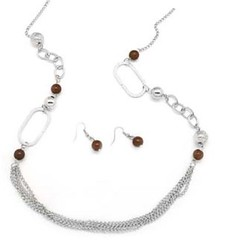 5th Avenue Brown Necklace P2310A-2