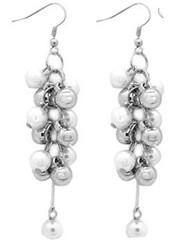5th Avenue White Earrings P5611A-4