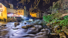Pont Aven by night (Mich2956) Tags: longexposure light night river lumire bretagne rivire nuit finistre poselongue