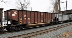 Conrail 507443 Coal Gondola (Conrail1978) Tags: railroad train pa gondola coal hopper cr conrail wormleysburg 507443