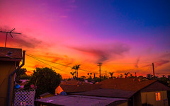 colorful sunset (Spammie33) Tags: street sunset sky sun nature colors weather clouds sunrise landscape outside outdoors photography twilight alley sundown angle 28mm wide sunny astro hues lense